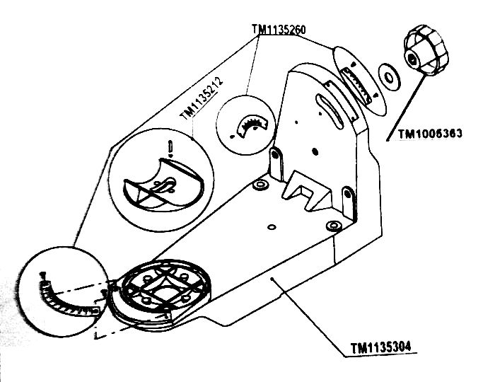 tecomec tl136 jolly sharpener parts
